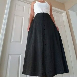 Retro 90s Polka Dot Maxi Skirt XS 2-4